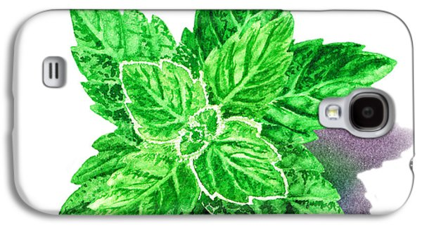 Mint Leaves Galaxy S4 Case by Irina Sztukowski