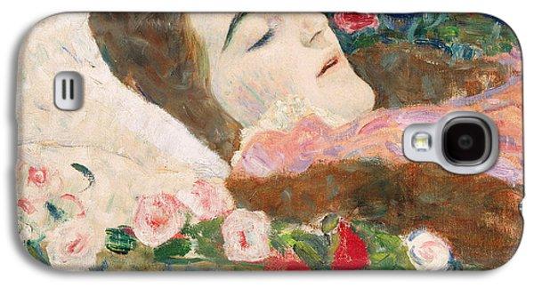 Miss Ria Munk On Her Deathbed Galaxy S4 Case by Gustav Klimt