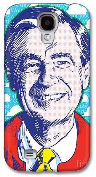 Mister Rogers Pop Art Galaxy S4 Case by Jim Zahniser