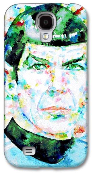 Mister Spock  Watercolor Portrait Galaxy S4 Case