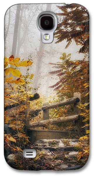 Misty Footbridge Galaxy S4 Case by Scott Norris