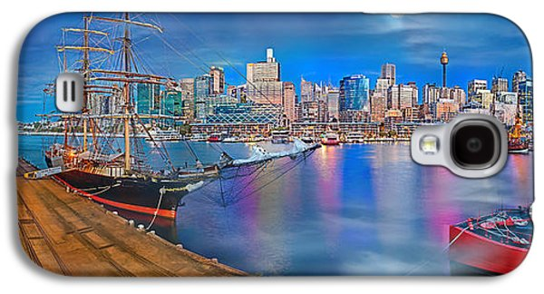 Misty Morning Harbour Galaxy S4 Case