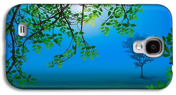 Misty Night Galaxy S4 Case by Bedros Awak