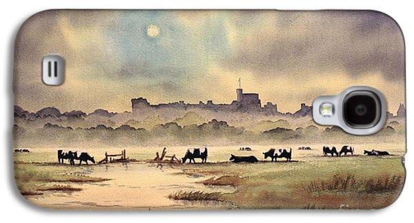 Misty Sunrise - Windsor Meadows Galaxy S4 Case by Bill Holkham