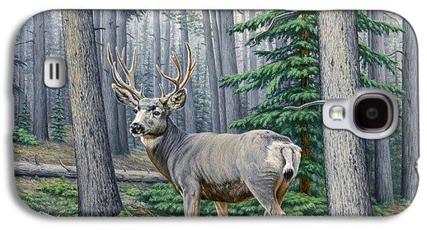 Misty Woods-buck Galaxy S4 Case by Paul Krapf