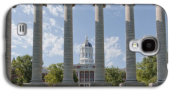 Mizzou Jesse Hall And Columns Galaxy S4 Case by Kay Pickens