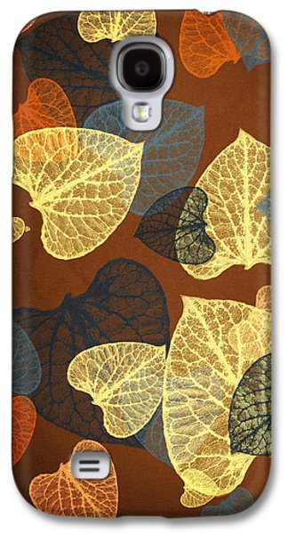 Mocha Abstract Leaves Square Galaxy S4 Case