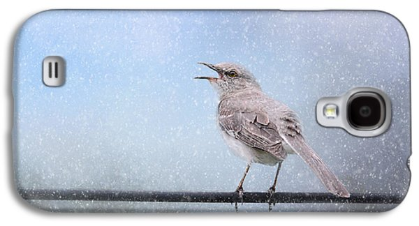 Mockingbird In The Snow Galaxy S4 Case by Jai Johnson