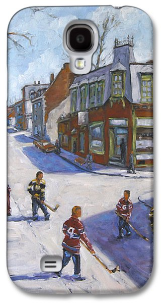 Molasses Town Hockey Rivals In The Streets Of Montreal By Pranke Galaxy S4 Case by Richard T Pranke