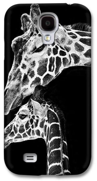 Mom And Baby Giraffe  Galaxy S4 Case