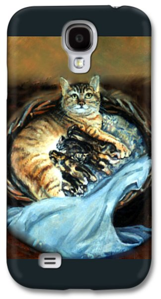 Mom With Her Kittens Galaxy S4 Case