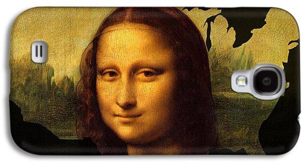 Mona Lisa United States Galaxy S4 Case by John Clark