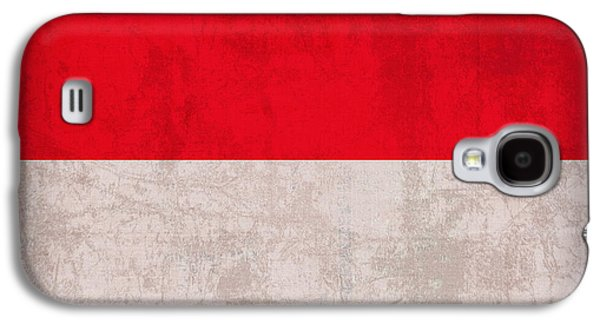 Monaco Flag Vintage Distressed Finish Galaxy S4 Case