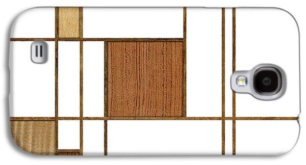 Mondrian In Wood Galaxy S4 Case