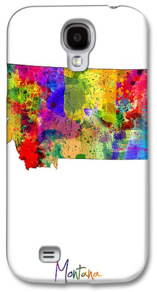 Montana Map Galaxy S4 Case by Michael Tompsett