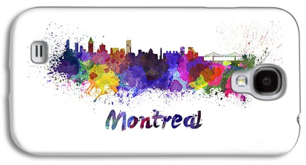 Montreal Skyline In Watercolor Galaxy S4 Case