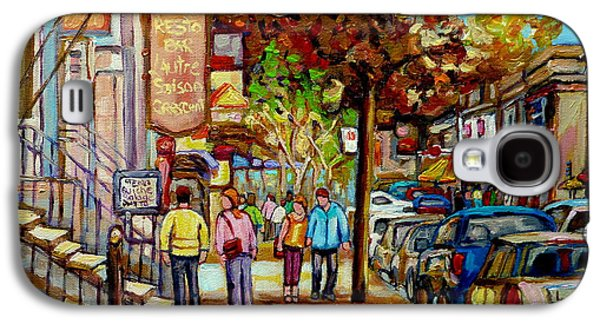Montreal Streetscenes By Cityscene Artist Carole Spandau Over 500 Montreal Canvas Prints To Choose  Galaxy S4 Case by Carole Spandau