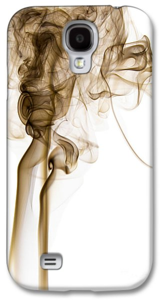 Abstract Vertical Coffee Brown Mood Colored Smoke 04 Galaxy S4 Case by Alexandra K