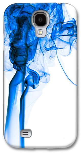 Mood Colored Abstract Vertical Deep Blue Smoke Art 01 Galaxy S4 Case by Alexandra K