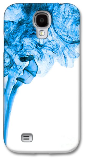 Abstract Vertical Deep Blue Mood Colored Smoke Art 03 Galaxy S4 Case by Alexandra K