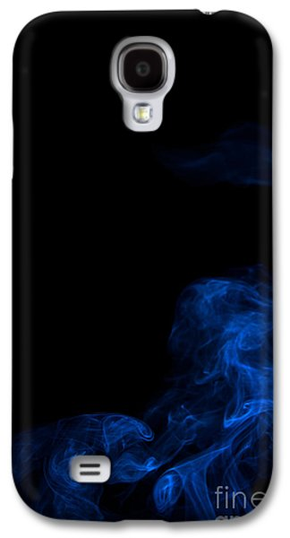 Abstract Vertical Paris Blue Mood Colored Smoke Art 02 Galaxy S4 Case by Alexandra K