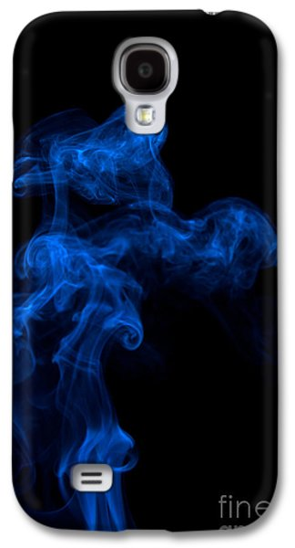 Abstract Vertical Paris Blue Mood Colored Smoke Art 03 Galaxy S4 Case by Alexandra K