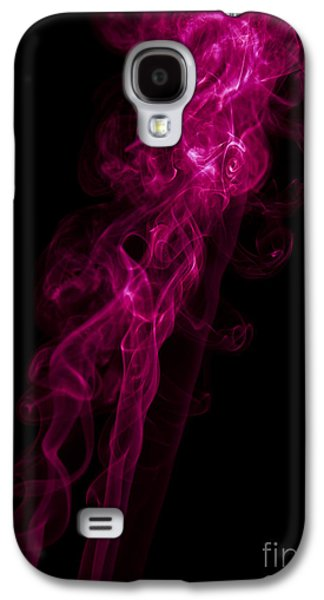 Mood Colored Abstract Vertical Purple Smoke Wall Art 02 Galaxy S4 Case by Alexandra K