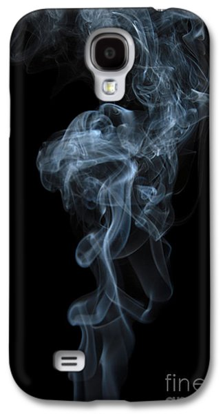 Abstract Vertical White Mood Colored Smoke Wall Art 03 Galaxy S4 Case by Alexandra K