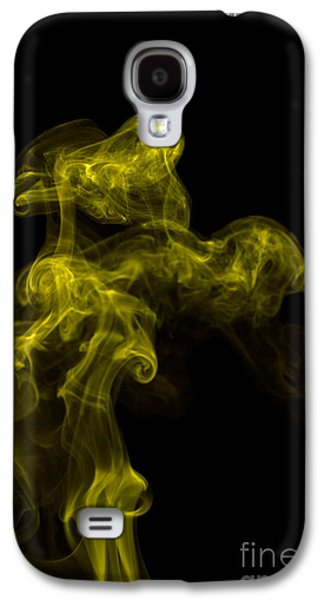 Abstract Vertical Yellow Mood Colored Smoke Wall Art 02 Galaxy S4 Case by Alexandra K