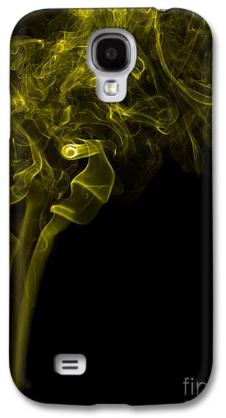 Mood Colored Abstract Vertical Yellow Smoke Wall Art 03 Galaxy S4 Case by Alexandra K