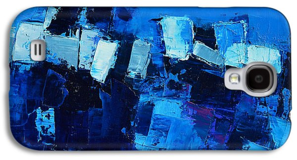 Mood In Blue Galaxy S4 Case by Elise Palmigiani