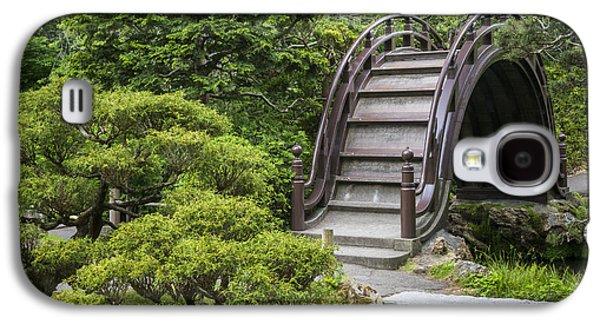 Moon Bridge - Japanese Tea Garden Galaxy S4 Case by Adam Romanowicz