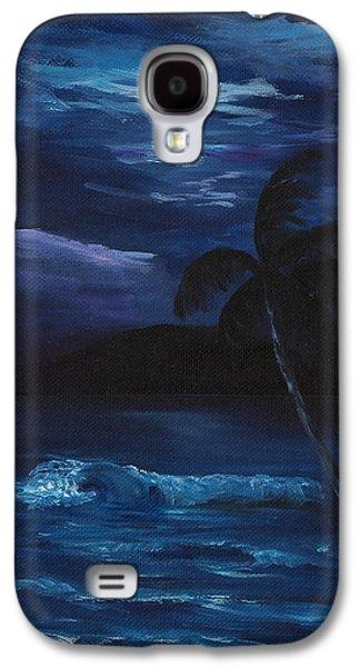 Moon Light Tropics Galaxy S4 Case