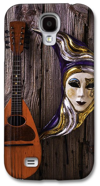 Moon Mask And Mandolin Galaxy S4 Case by Garry Gay