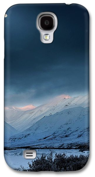 Moon Over Atigun Pass In Alaska Galaxy S4 Case by Chris Madeley