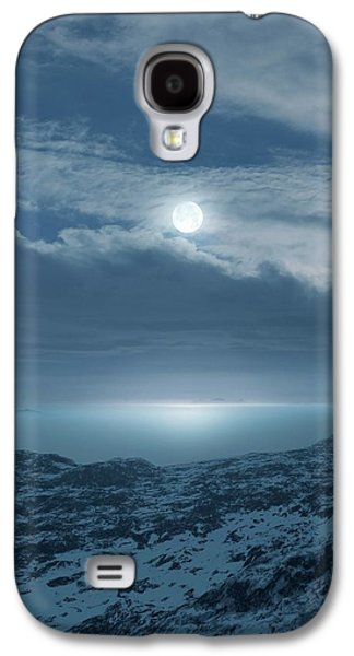 Moon Over Frozen Landscape Galaxy S4 Case