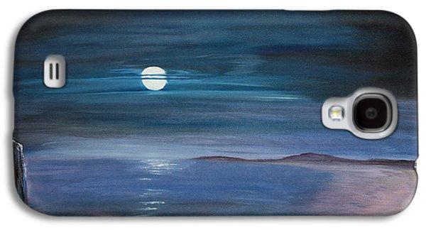 Moon Over Quiet Ocean Galaxy S4 Case