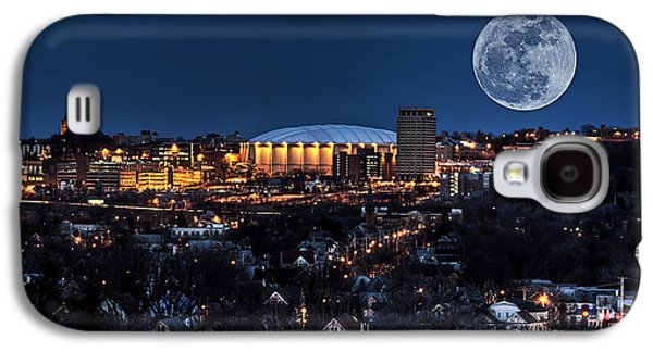 Moon Over The Carrier Dome Galaxy S4 Case by Everet Regal
