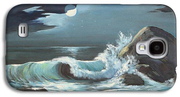 Moonlight On Waves Galaxy S4 Case