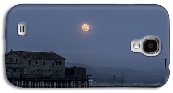 Moonrise Over The Harbor Galaxy S4 Case