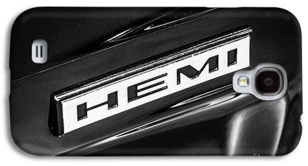 Mopar Hemi Emblem Black And White Picture Galaxy S4 Case by Paul Velgos