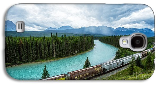 Morant's Curve Bow Valley Banff National Park Canada Galaxy S4 Case by Edward Fielding