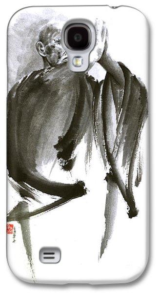 Morihei Ueshiba Sensei Aikido Martial Arts Art Japan Japanese Master Sum-e Portrait Founder Galaxy S4 Case by Mariusz Szmerdt