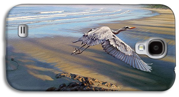 Heron Galaxy S4 Case - Morning Fight-blue Heron by Paul Krapf