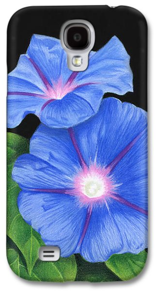 Morning Glories On Black Galaxy S4 Case by Sarah Batalka