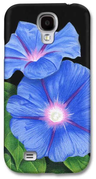 Morning Glories On Black Galaxy S4 Case