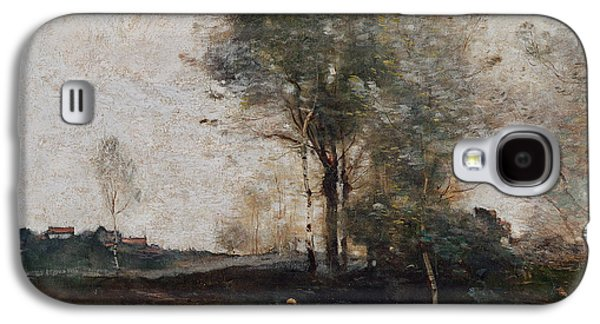 Morning In The Field Galaxy S4 Case by Jean Baptiste Camille Corot