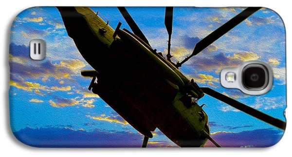 Helicopter Galaxy S4 Case - Morning Maneuvers  by Jon Neidert