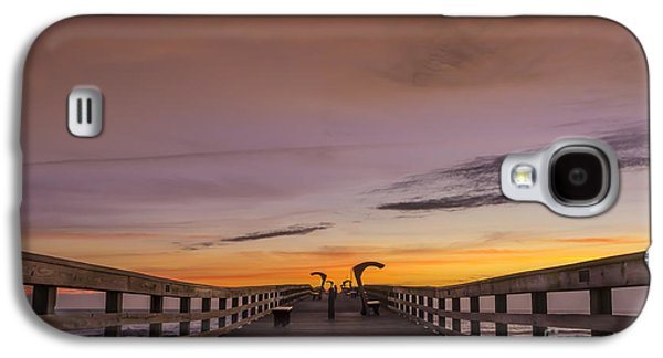 Morning Pier Deck Galaxy S4 Case by Marvin Spates