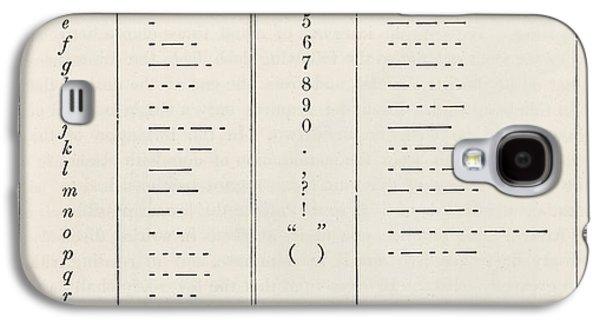Morse Code System Galaxy S4 Case
